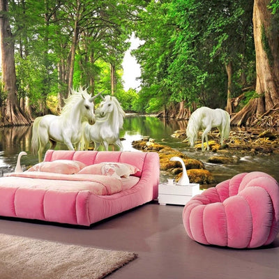3D Mural Wallpaper Unicorn - Goods Shopi