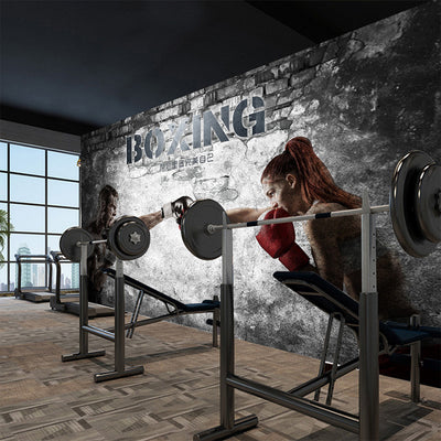 Mural Wallpaper 3D Abstract Boxing Gym - Goods Shopi