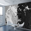 Black White Murals Wallpaper Living Room - Goods Shopi