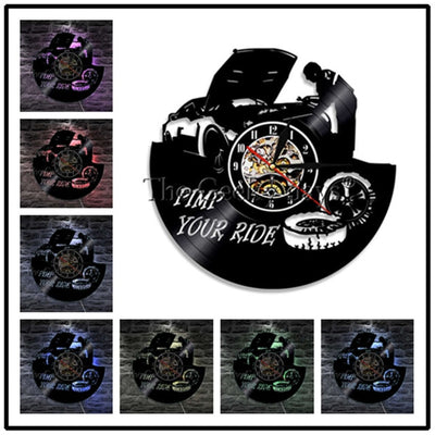 Vinyl Record Car Service Garage Wall Clock - Goods Shopi