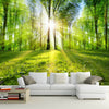 3D Wallpaper Mural Forest Sunshine Nature Landscape - Goods Shopi