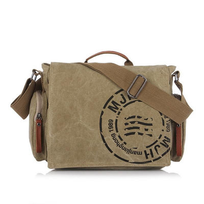 Vintage Men Shoulder Bag Canvas - Goods Shopi