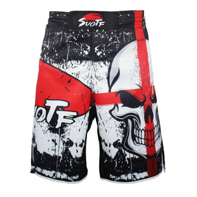 White Skull MMA  boxing Shorts - Goods Shopi