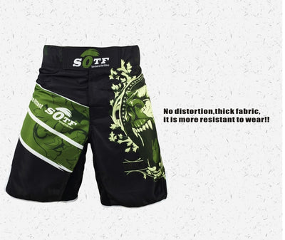 Green Bear Mma Fighting Shorts - Goods Shopi