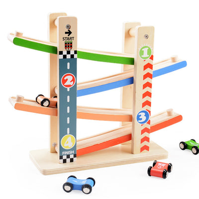 Wooden Toy Road  Ramp Racer Track