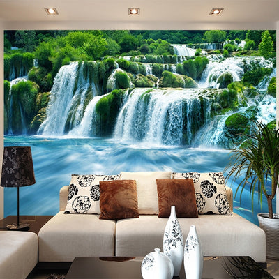 3D Wallpaper Waterfall Nature Landscape - Goods Shopi