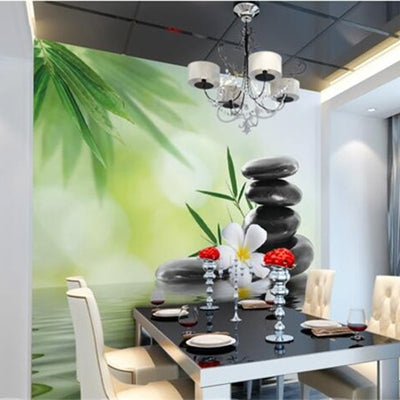 3D Wallpaper Bamboo Flower Murals Living Room - Goods Shopi