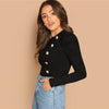 Ladies Tops Tees Black Long Sleeve T-Shirts - Goods Shopi