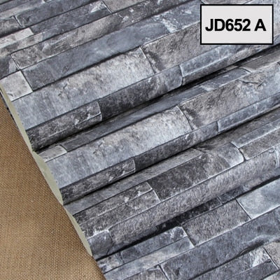 3D Roll Wallpaper Brick Stone - Goods Shopi