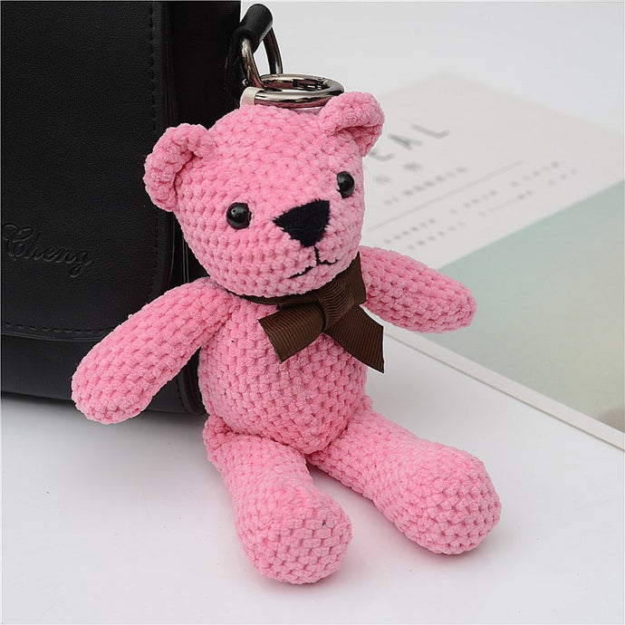 Cloth Vintage Key Ring Bear