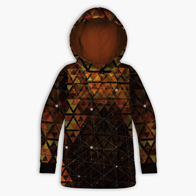 Geometric Fire Childrens Hoodie | Fabrifaction.com