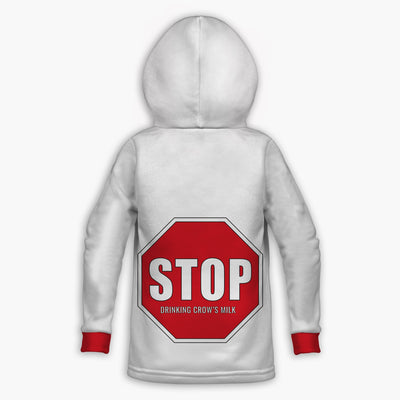 Stop Drinking  Crows Milk Toddler Hoodie | Fabrifaction.com