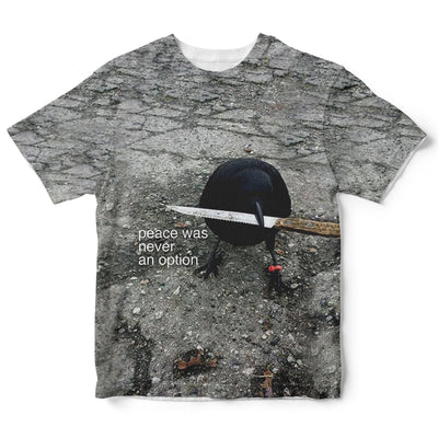 Crows Peace Was Never An Option Childrens Tee | Fabrifaction.com
