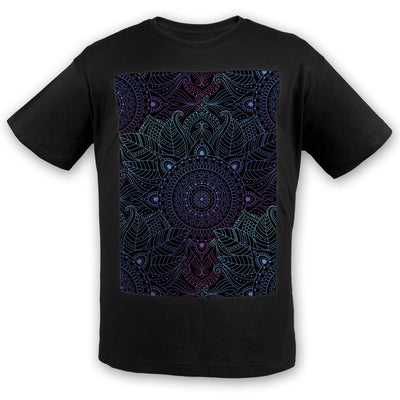 Lunare Mandala Cotton Tee | Fabrifaction.com