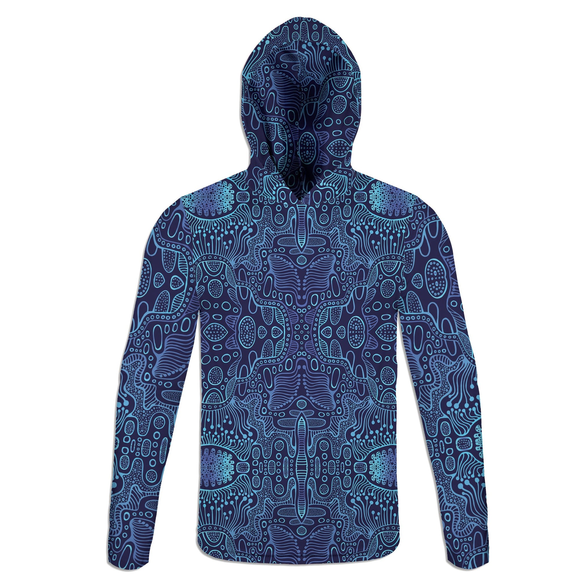 Blue Yonder Lightweight Hoodie | Fabrifaction.com