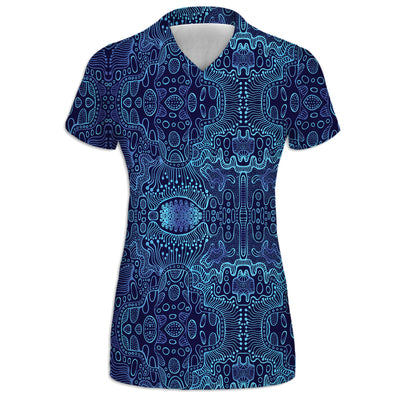 Blue Yonder Womens V-Neck Tee | Fabrifaction.com