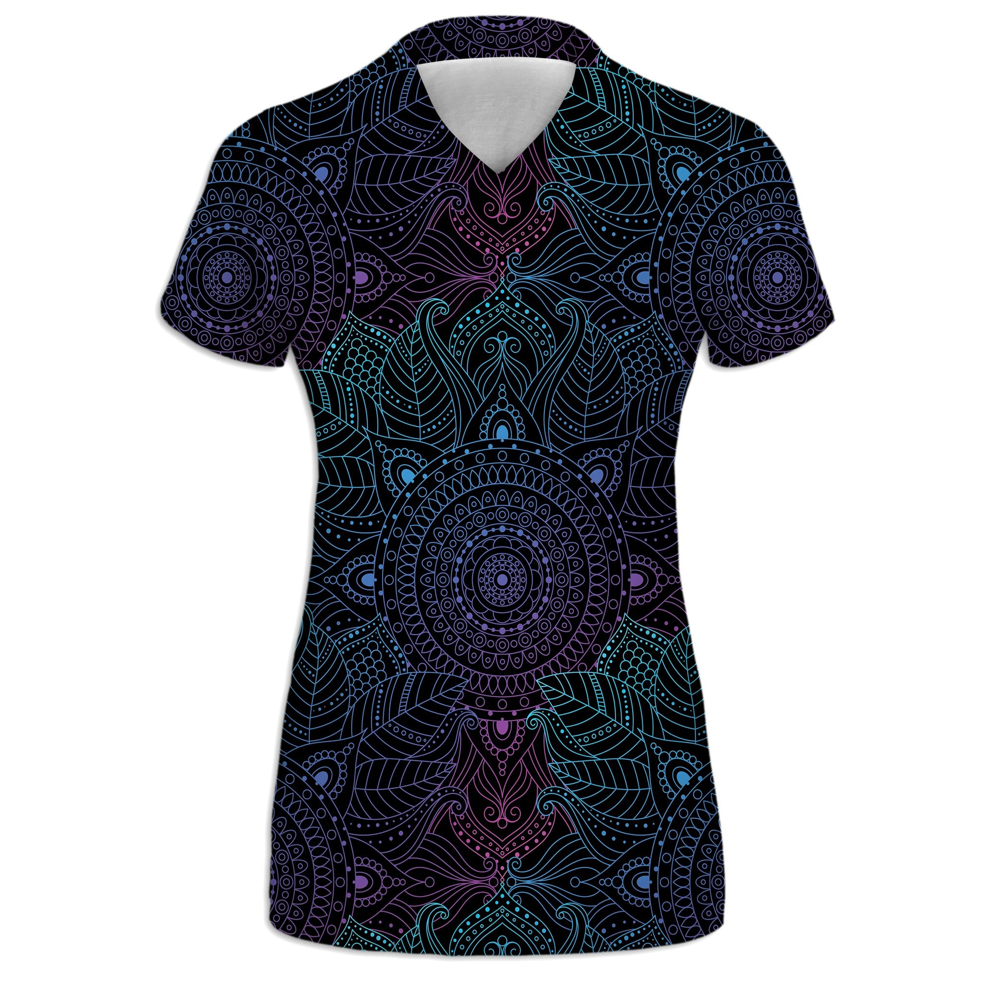 Lunare Mandala Womens V-Neck Tee | Fabrifaction.com