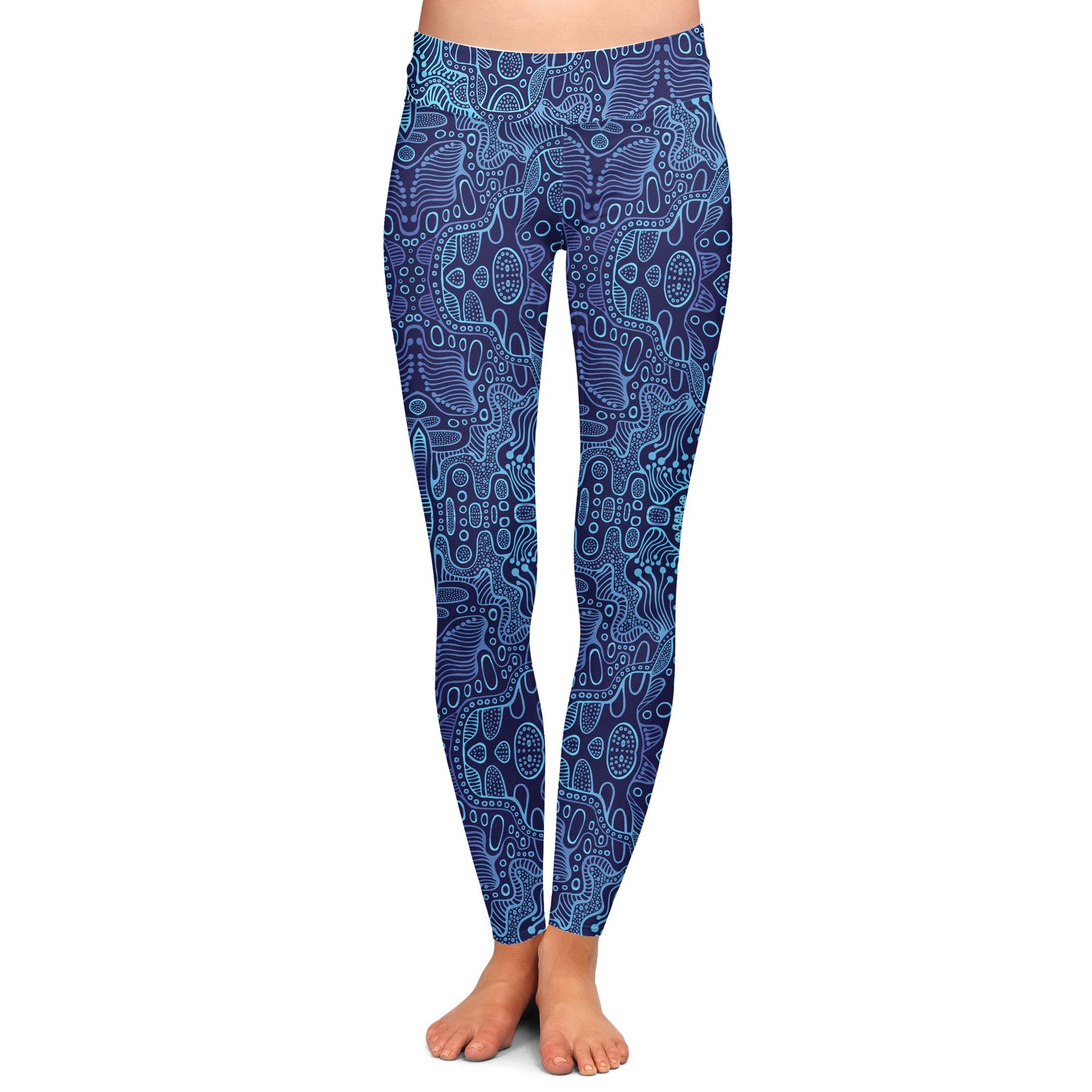 Blue Yonder Yoga Pants | Fabrifaction.com