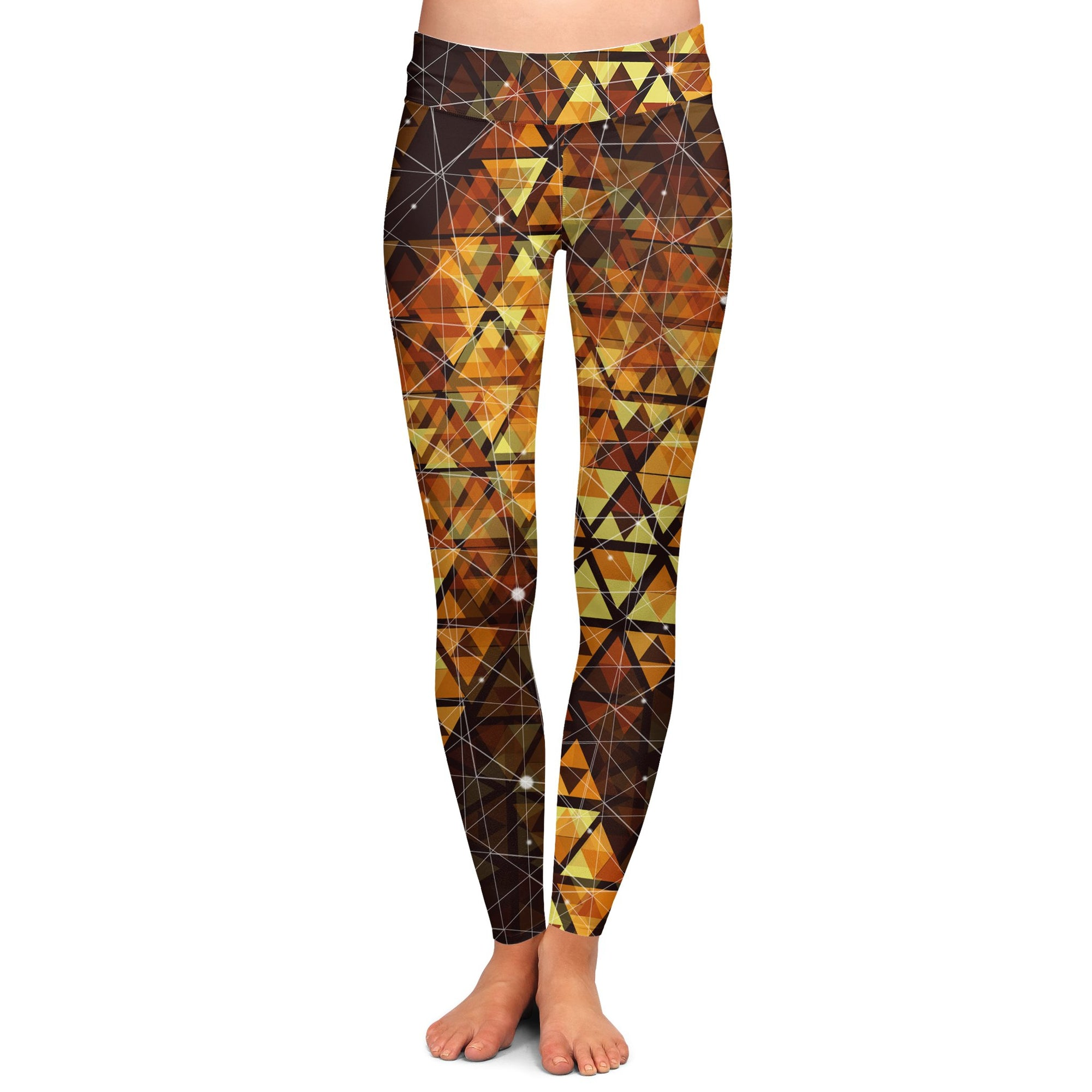 Geometric Fire Yoga Pants | Fabrifaction.com