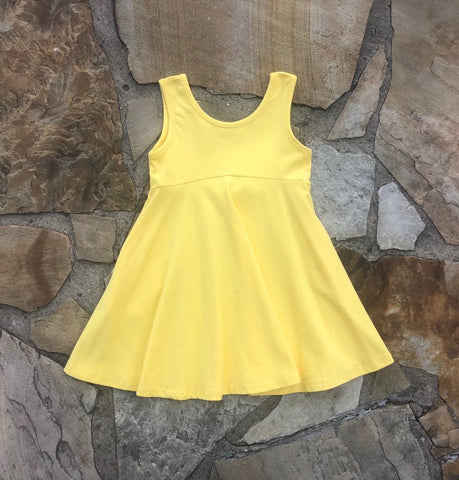 Emery Princess Twirl Tunic Dress Yellow