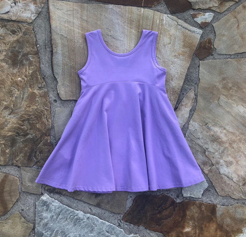 Emery Princess Twirl Tunic Dress Purple
