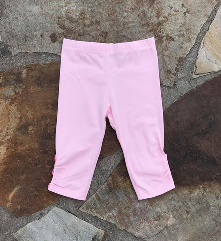 Sweet Pink Sprinkle Button Capris
