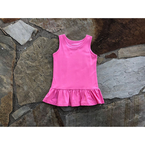 Summer Peplum Top Pink
