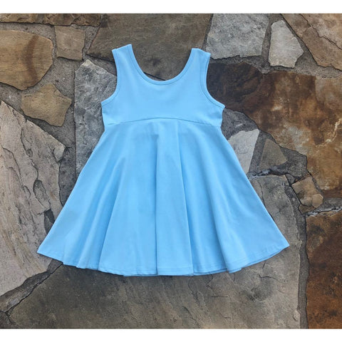 Emery Princess Twirl Tunic Dress Blue
