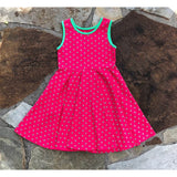 Summer Love Tank Dress Watermelon Polka Dot
