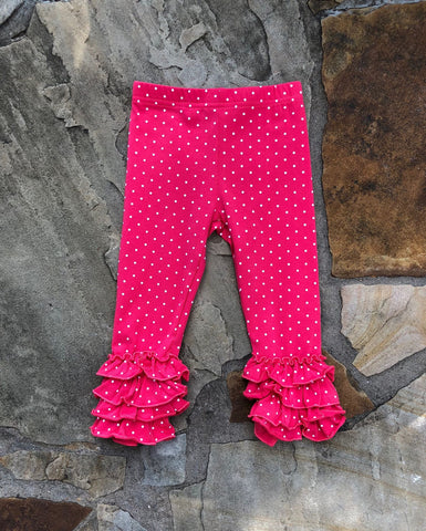 Red Headed Pink Polka Icing Pants