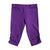 Purple Button Capris