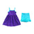 Purple w/ Aqua Trim Tank Dress
