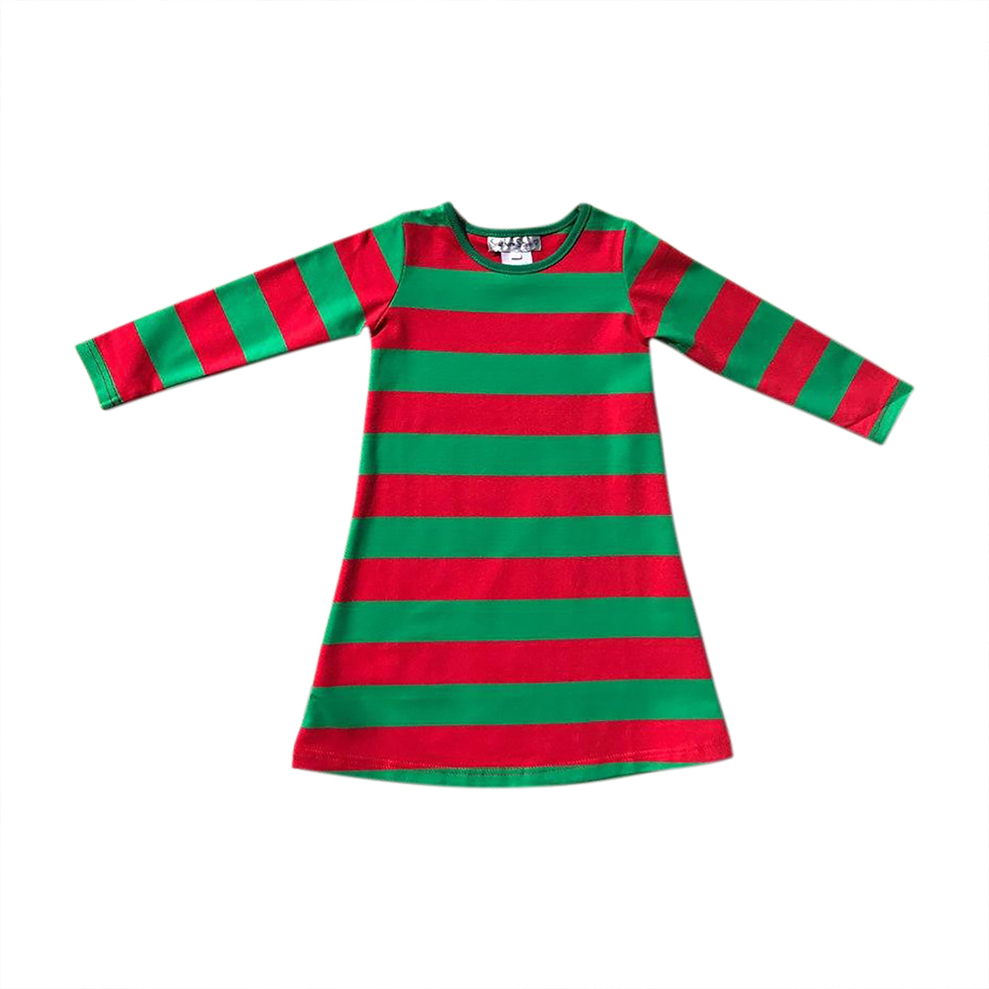 Red/Green Stripe Gown