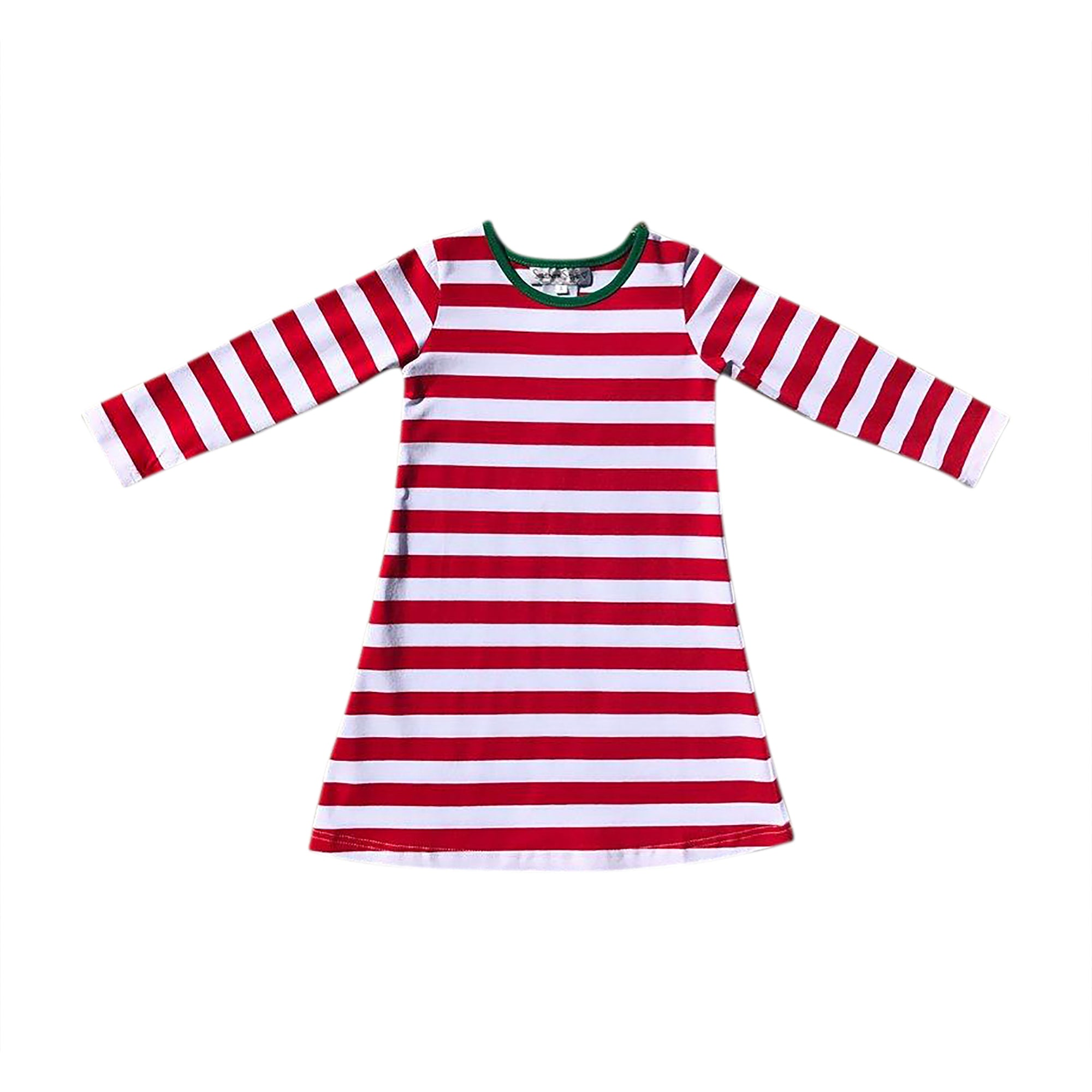 Red/White Stripe Gown