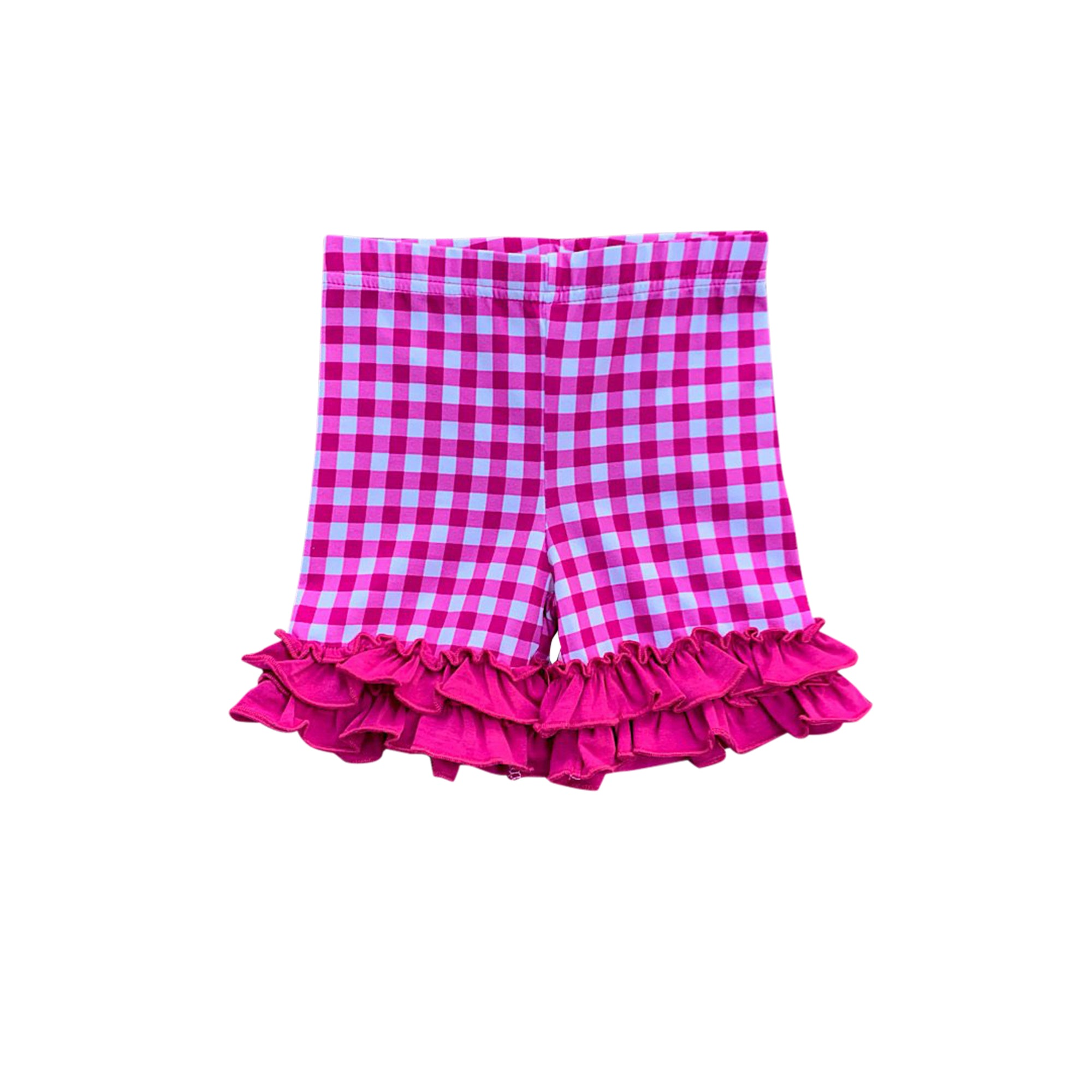 Wildberry Gingham Ruffle Shorties