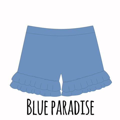 *PRE-SALE* Blue Paradise Ruffle Shorties