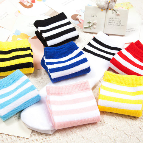 Stripe Knee Socks