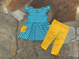 Cora Teal & Golden Tunic Set