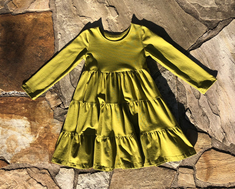 Olive Long Sleeve Suzy May Dress