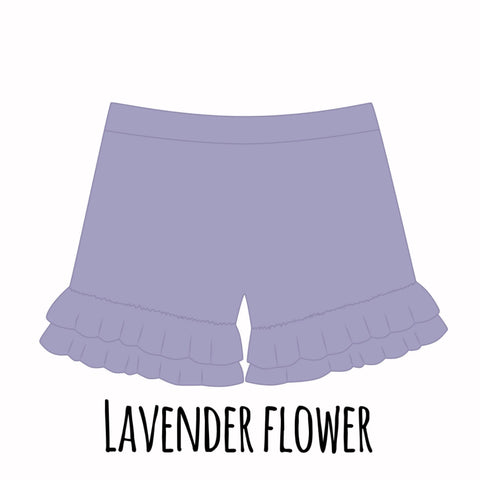 *PRE-SALE* Lavender Flower Ruffle Shorties