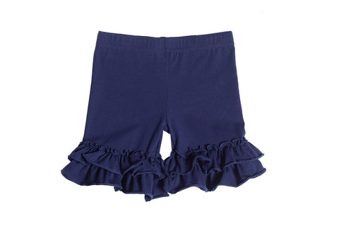 Navy Ruffle Shorties