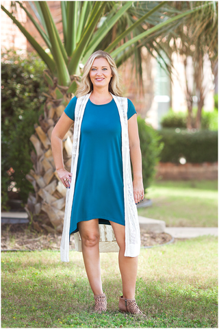 Moonlight Teal Women's Jessie Dress