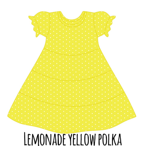 *PRE-SALE* Yellow Lemonade w/ White Polka Dots Suzy May Dress