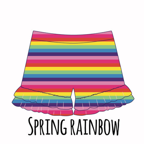 *PRE-SALE* Rainbow Stripe Ruffle Shorties