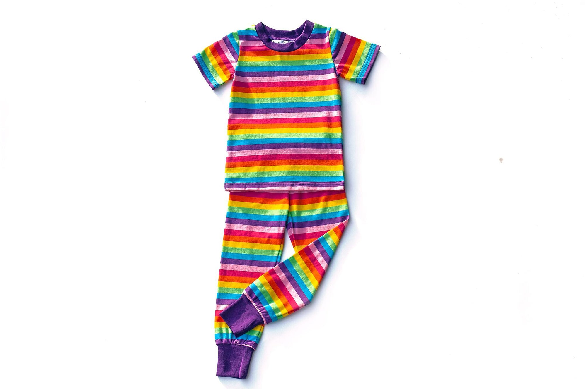 Rainbow Stripe Short Sleeve PJ Set