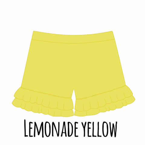 *PRE-SALE* Lemonade Yellow Ruffle Shorties