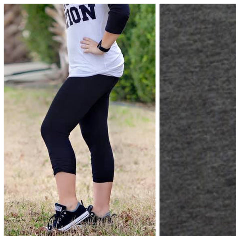 Women's Heather Grey Legging Capris *PLEASE READ*