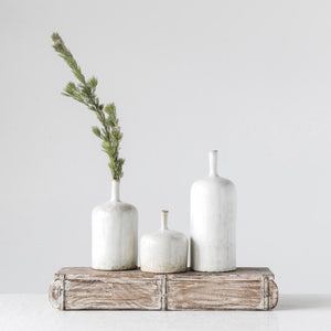Antiqued Stoneware Vases