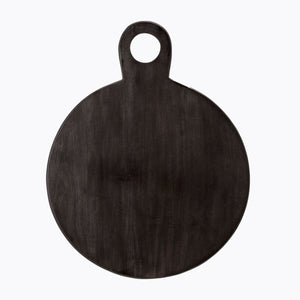 Round Black Wood Cutting Board