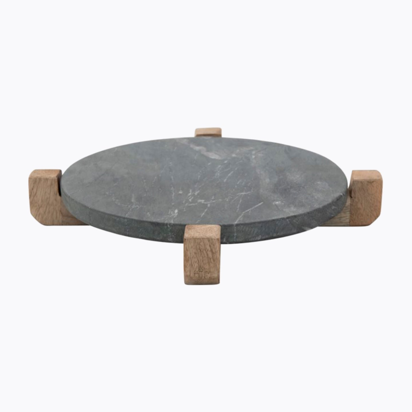 Wood Stand Marble Serving Board